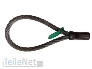 Seilschlaufe mit Gewinde 4000kg M30 Drahtseil Schlaufe Versetzhilfe B