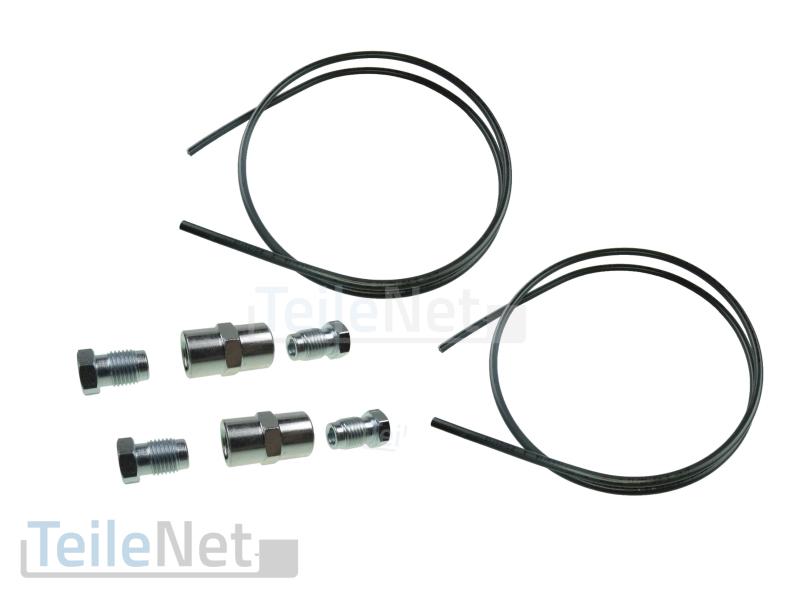 2x Bremsleitungsverbinder 4x Überwurfschraube Bördel F 2 m ATE Bremsleitung